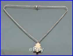 100% AUTHENTIC CHANEL SILVER TONE NECKLACE CHAIN With X-MAS TREE PENDANT VINTAGE