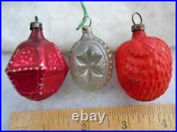12 Assorted Vintage/Antique GERMAN 1930's Figural Feather Tree Xmas Ornaments
