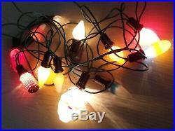 12x GLASS OLIVE CONE VINTAGE RETRO PERIOD CHRISTMAS XMAS FAIRY TREE LIGHTS F30