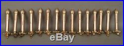 15 Vintage Glass Clip on Candle Christmas Tree Ornaments-5inch-Gold-Matte RARE