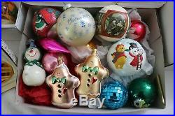 170+ Vtg Glass Christmas Tree Ornaments Mixed Lot Large Collection Hallmark Etc