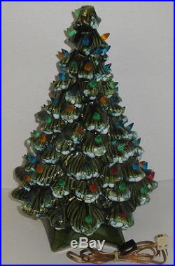 18 large vintage ceramic christmas tree with stand