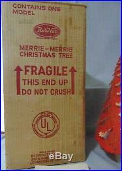1950's Vintage Econolite RED CHRISTMAS TREE Roto Vue MOTION LIGHT Lamp