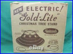 1960's Vintage SPINCRAFT GOLD LITE Christmas Tree Stand Non Rotating Stand
