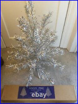1960s Vintage Angel Pine Walter Grafton Boxed Aluminium Christmas Tree 3ft