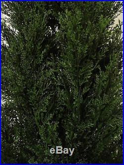 2 CEDAR OUTDOOR TREE 7ft TOPIARY PLANT ARTIFICIAL BUSH UV CYPRESS PINE EVERGREEN