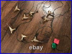2 Light Strings Vintage Clip On Bird Christmas Tree Ornament Italy RARE