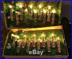 2 sets vintage italian miniature christmas tree candle lightsindividual bulbs