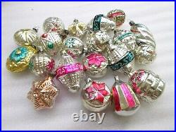20 Antique Vintage USSR Glass Russian Christmas Ornament Tree Decoration Old Set