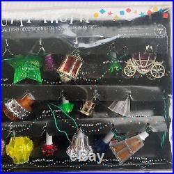 20 RARE BOXED VINTAGE PIFCO TUTTI FRUTTI CHRISTMAS TREE LIGHTS VINTAGE BULBS 80s