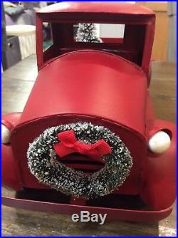2016 Target Wondershop Retro Vintage Metal Camper & Truck with Christmas Tree EUC