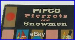 20x PIFCO'PIERROTS AND SNOWMEN' VINTAGE CHRISTMAS TREE LIGHTS NO. 1239 F31