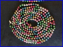 22 Ft. Vtg Mercury Glass 1/4 Multi-color Feather Tree Garland Christmas Japan