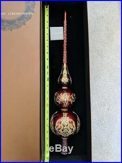 23 Vintage Jay Strongwater Christmas Tree Topper Stand Ornament Swarovski