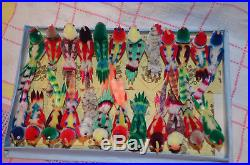 24 UNUSED OLD STOCK vintage Chenille Birds Boxed Christmas Tree Decorations