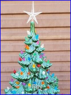 24 Vintage Atlantic Mold LARGE Ceramic Christmas Tree with Base