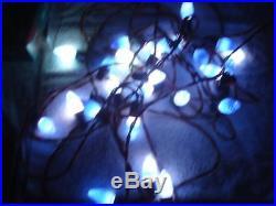 25 VINTAGE 1930s SWIRL BLUE CHRISTMAS TREE LIGHTS C-9 INDOOR/OUTDOOR