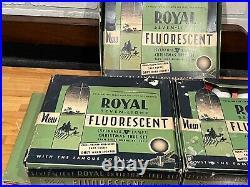 3 Box Sets Vintage Royal Fluorescent Christmas Tree Lights 20 Bulbs Total