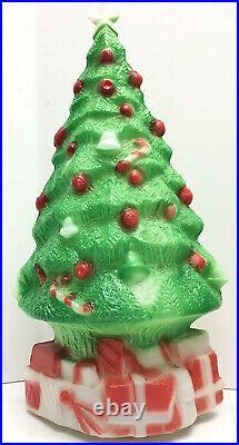 3 Vintage Christmas Tree Blow Molds Carolina Enterprises 13 1981