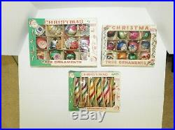 30 Vintage Hand Painted POLAND XMAS Ornaments in original BOXES BEAUTIFUL