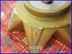 35 MCM Vintage Atlantic Mold Ceramic Christmas Tree Gold Sparkles 3 Piece