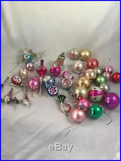35 VINTAGE 1960s MERCURY GLASS CHRISTMAS TREE REFLECTOR BAUBLES DECORATIONS