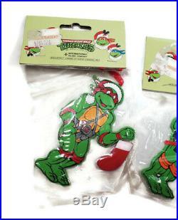4 Vintage Teenage Mutant Ninja Turtles Christmas Tree Ornaments 1990 Sealed