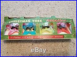 4 vintage tinkle toy co Christmas tree twinklers flashing whirling star lights