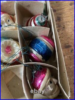 46 Vintage Christmas Tree decorations Mercury glass pine cones Santa UFO &c OLD