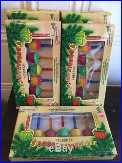 5 BOXES! SETS of Vintage look Bubble Lights C7 BRAND NEW XMAS TREE DECORATING