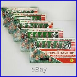 5 Vintage Beacon 7 Light Flicker Flame Christmas Tree Candle Lights SEE VIDEO