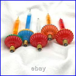 5 Vintage Noma Biscuit Christmas Tree Bubble Lights Replacement Tested Working
