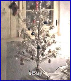 50's Vintage 4.5 ft. ALUMINUM Christmas Tree 45 Smaller POM POM TIP Branches