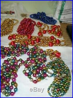 56 Strands of Vintage Mercury Glass Christmas Tree Beads Garland