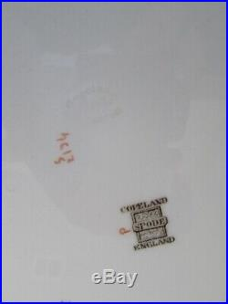 6 Rare VTG Copeland SPODE Christmas Tree Magenta Rim 10 5/8 Dinner Plates