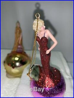 6 Vintage Ashton Drake Marilyn Monroe Christmas Tree Ornaments Marvelous Marilyn