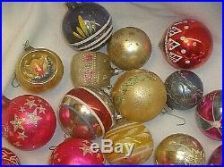 70 Vintage Christmas Tree Glass Ornaments