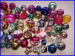 72 Vtg Glass Ornaments Christmas Tree Mercury Indent Fantasia Germany