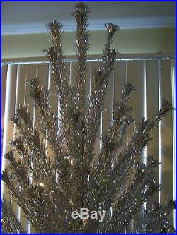 7ft Pom Pom Aluminum Christmas Tree 182 Branches Vintage 50s/60s Mid Century Mod
