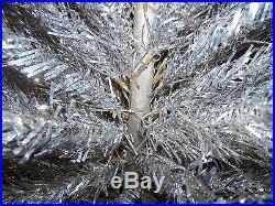 7ft Pom Pom Aluminum Christmas Tree 182 Branches Vintage 50s/60s Mid Century Mod