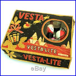 A Fine Box Of Vintage Vesta Lite Christmas Tree Lights With 12 Lamps