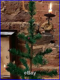 ANTIQUE VINTAGE 21 Tall GOOSE FEATHER CHRISTMAS TREE