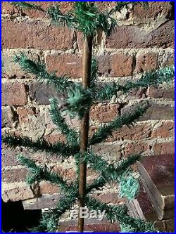 ANTIQUE VINTAGE 36 GOOSE FEATHER CHRISTMAS TREE Painted Base