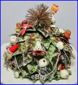 Adolfo II 2 Christmas Tree Theme Hat 1960's Signed Vintage Bes Ben Type
