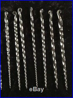 Antique 12 VTG Early 1900s Germany Glass Swirl Twisted Icicles Christmas Tree