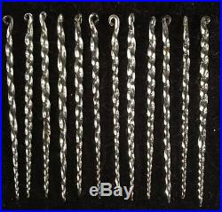 Antique 12 VTG Early 1900s Germany Glass Swirl Twisted Icicles Christmas Tree 4