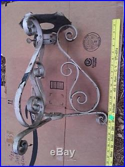 Antique Christmas Tree Stand Ornate Fancy Unusual Victorian Tall Rare White Vtg