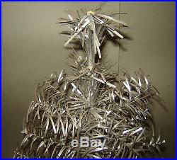 Antique Old Vintage 1950s Christmas Tree POM POM SILVER ALUMINUM TINSEL
