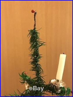 Antique Rare 40 German Goose Feather Christmas Tree / Victorian / Vintage