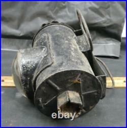 Antique Tin Christmas Tree Police Lantern Lamp Light Bullseye Glass Lens